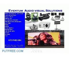 Sound System,Truss for lighting, all types of lights available for rent