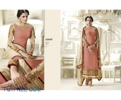 Georgette suit pieces with santoon bottom and chiffon dupatta