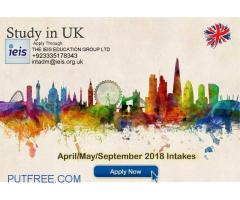 Study in UK: Admissions Open for April/ May/ September 2018 intakes.