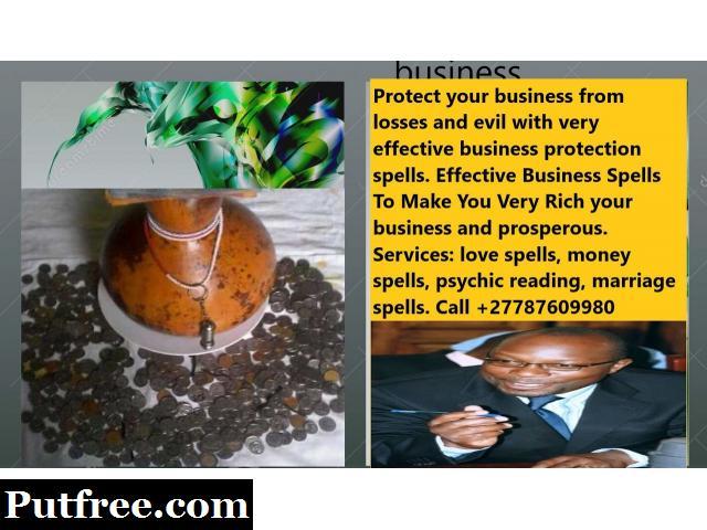 Business Luck spells Customer Call +27787609980