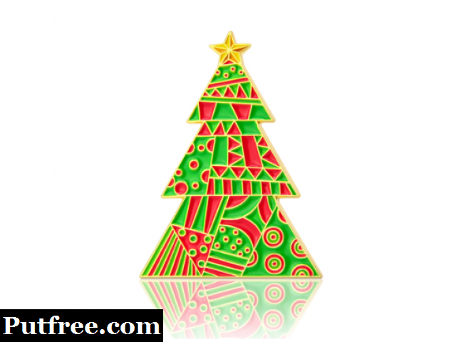 Christmas Tree Enamel Pins