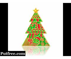 Christmas Tree Enamel Pins