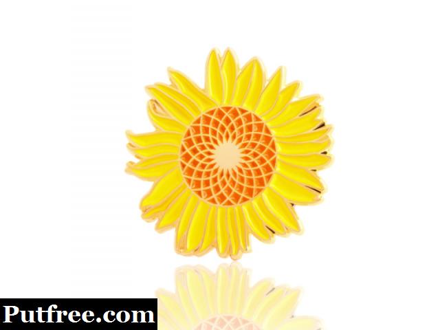 Sunflower Enamel Pins