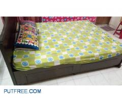 Queen Size double cot with mattress