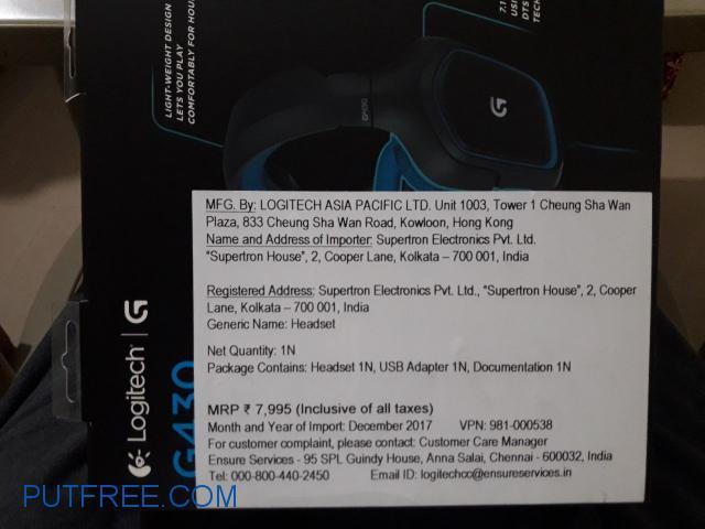 Logitech G430 Gaming Headphone Belgaum - Put Free Ads | Free