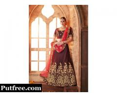 Grab attractive offers on lehengas visit Mirraw