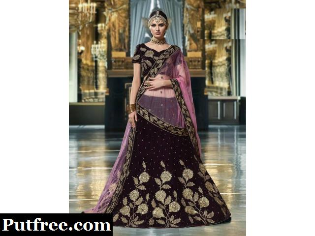 Up to 50% Off On Velvet Lehengas Visit Mirraw