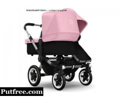 Bugaboo Donkey Mono Stroller in Pink with Black Base