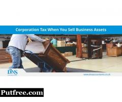 Corporation tax on business assets