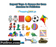 Import Toys & Games for from Amazon to Pakistan