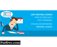 Replace lost driving licence