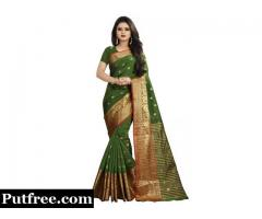 Buy Mehendi Sarees Online From Best Collection At Mirraw