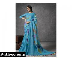 Buy Handwoven Linen Sarees Online At Mirraw
