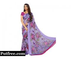 Pure Chiffon Sarees Online Shopping At Mirraw