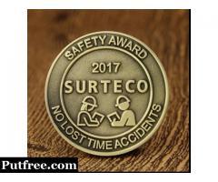 Custom Coins | Safety Award Cheap Challenge Coins