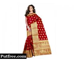 Shop the latest Maroon Colour Sarees Online In Best Designs and Discounts