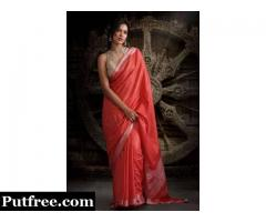 Shop Red Colour Sarees to Flaunt During Auspicious Occasions