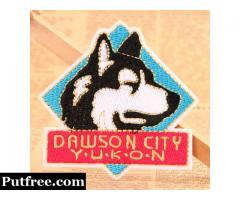 Husky Embroidered Patches