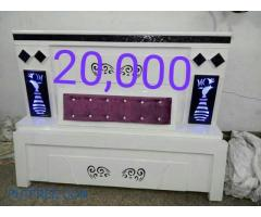 PURE WHITE COLOR CUSHION BED
