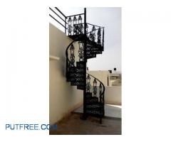 Spiral staircase cast iron.