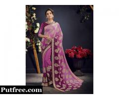 Shop Latest Crepe Silk Sarees To Flaunt Your Elegance And Style