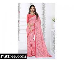 Trendy Pink Sarees In Various Fabrics At Fair Prices