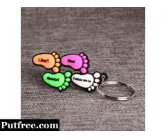 Footprint PVC Keychain