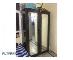 Two doors Big wardrobe 2front mirror,3 drawer height-79 inch, breadth- 24.5 inch , length-49.5 inch