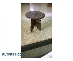 Rose wood hand crafted tea table.