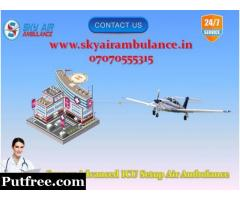 Hi-Rated ICU Setup Air Ambulance Service in Thiruvananthapuram at Glorious Rate