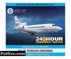 Choose Sky Air Ambulance from Srinagar with Advanced Medical Aid