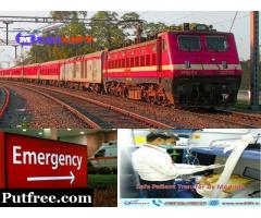World-Class Medilift Train Ambulance from Patna to Delhi