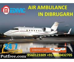 Take Careful Medical Support Air Ambulance Service in Dibrugarh by Medivic