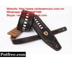 2019 NEW Wholsale OEM leather guitar straps musical instruments guitar parts