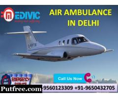 Instantly Book Supreme ICU Care Air Ambulance Services in Delhi by Medivic