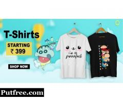 Buy Printed T-Shirts & Graphic T-Shirts Online in India at Shutcone.com