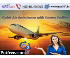 Get Advantages of Medilift Air Ambulance in Kolkata with Doctor