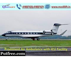 Hire Superlative Air Ambulance Service in Ranchi by Medilift