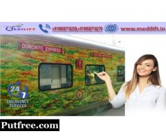 Medilift Train Ambulance from Patna to Mumbai- Safest Patient Transportation
