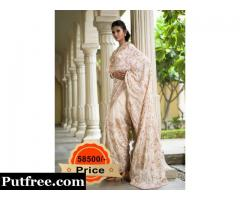 Buy Off White Silk Saree From Vasansi Jaipur