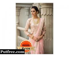 Buy Pink Georgette Saree From Vasansi Jaipur