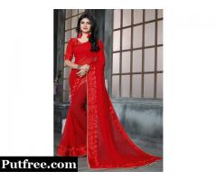 Buy The Latest Red Sarees Online At Fair Prices