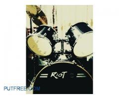 Dixon Riot Drum Kit | 5 pc+Throne+High Hat+Crash+Damper Rings(4 pc)