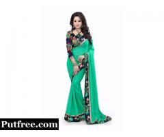 Look Absolutely Gorgeous In Green Saree For Engagement