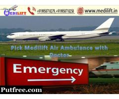 Medilift Best Low Fare Air Ambulance from Patna to Delhi