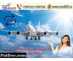 Immediate Patient Transfer Air Ambulance Service in Kolkata with Doctor
