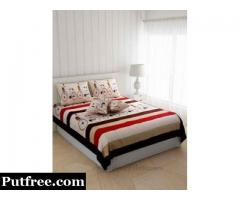 Buy Handmade Printed  Double Bed Sheet From JaipurFabric.com