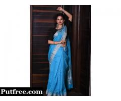 Choose The Perfect Blue Saree For Wedding From Mirraw