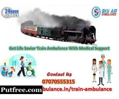 Use Sky Train Ambulance Service in Patna with Hi-tech Medical Tools