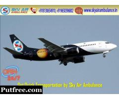 Get Sky Air Ambulance with Advanced Medical Support at Affordable Rate